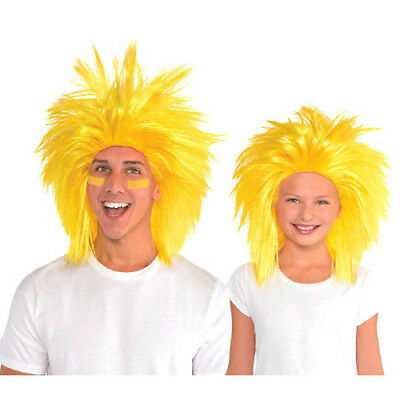 YELLOW CRAZY WIG for ADULTS or KIDS ~ Birthday Halloween Party Supplies Costume