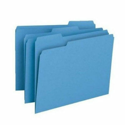 Manila Folders Letter Size Color Blue Colored File 13 Tab 100 Manilla Filing