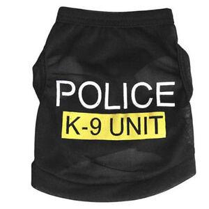 # 211 - Gilet de police K - 9 Unit pour chien de couleur NOIR .