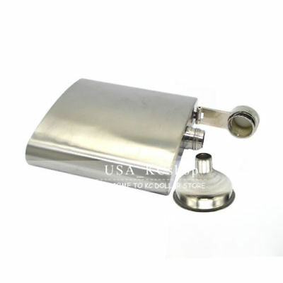 (New 8oz Stainless Steel Liquor Alcohol Hip  Whiskey Flask with Matching + Funnel)