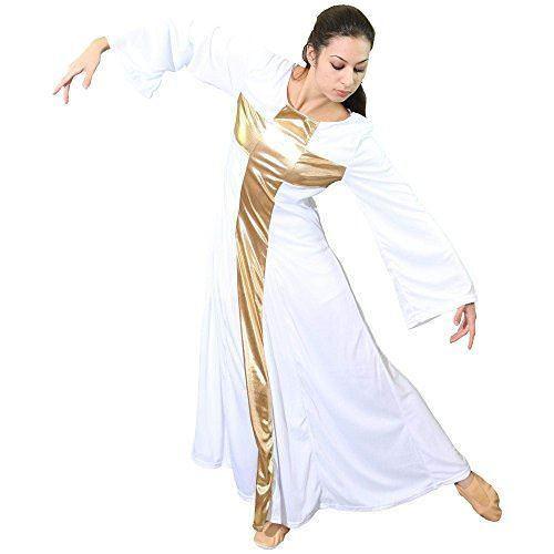 Danzcue Womens Praise Cross Long Dress