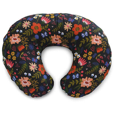 Boppy Boppy Cotton Blend Nursing Pillow and Positioner Slipcover, Black Floral