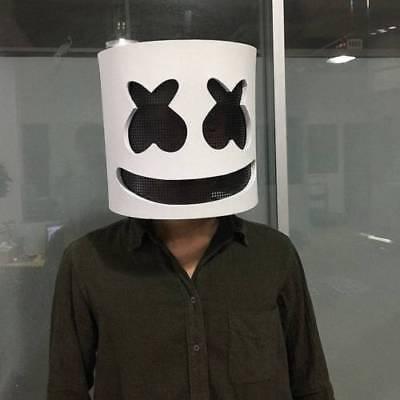 MarshMello DJ Mask Full Head Helmet Halloween Cosplay Mask Bar Music Props Party (Helmet Party)