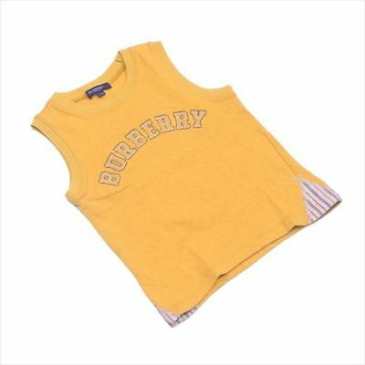 BURBERRY tank top logo boys mens Authentic Used T4729