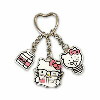 Sanrio HELLO KITTY GLASSES MULTI-CHARM METAL KEYCHAIN Key Chain Ring (Hello Kitty Spectacles)