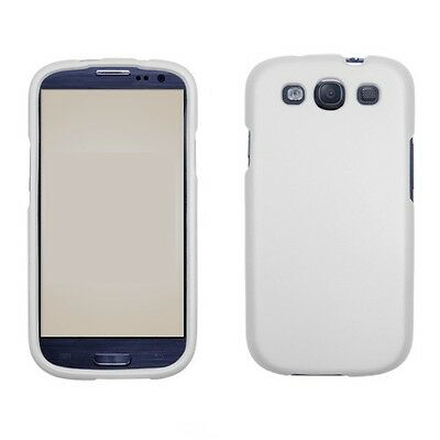 SAMSUNG GALAXY S3 i9300 SNAP ON HARD CASE SOLID WHITE for sale  Shipping to India