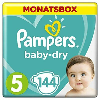 Pampers Baby-Dry Windeln, Gr. 5, 11-16 kg, Monatsbox, 1er Pack (1 x 144 Stü