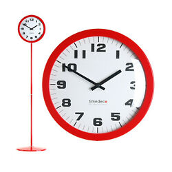 Modern Stand Floor Clock Home Decor Interior Separate Stand Clock - Simple(Red)