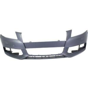 2009-2012 Audi A4 Bumper Front Primed Without S Line With Wahser CAPA