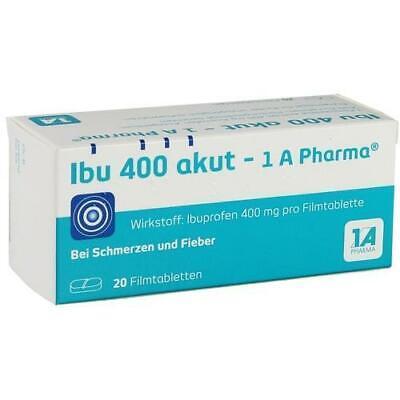 IBU 400 akut-1A Pharma Filmtabletten 20 St PZN 2013219