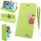 Green Wallet Case for iPhone 5