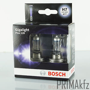 2x bosch gl hbirnen h7 55w 12v gigalight plus 120. Black Bedroom Furniture Sets. Home Design Ideas