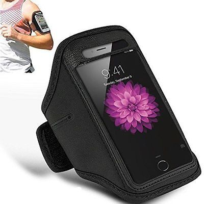 Black Sports Running Jogging Gym Armband Case for Apple iPhone X / iPhone XS