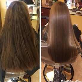Nanokeratin treatment/blow dry, highlights, fashion colours and more