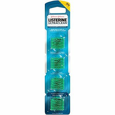 3 Pack Listerine Ultra Clean Access Flosser Mint Refill Heads 28 Count Each