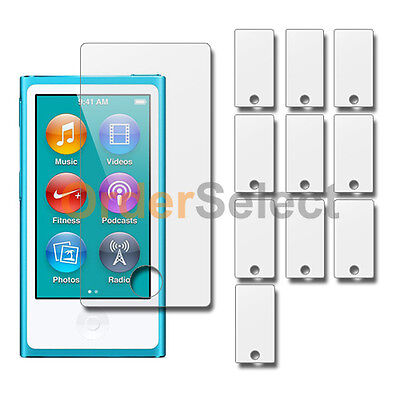 10X New Clear LCD Screen Shield Guard Protector for Apple iPod Nano 7 7th Gen