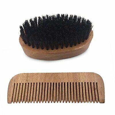 Domett Bart Pinsel und Mustache Kamm Set, Durchführung Hülle Inklusive (Kamm Und Pinsel-set)