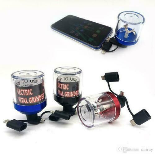 USB Electric Tobacco Grinder Herb Grinder Power Up With Android iPhones Control