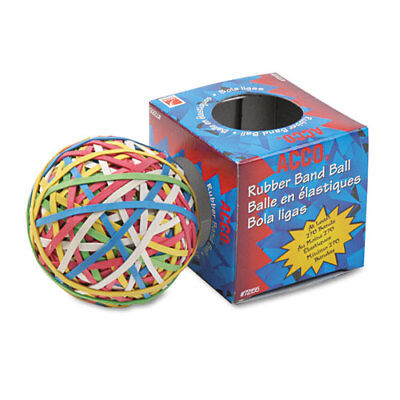 Rubber Band Ball 3.25 Diameter Size 34 Assorted Gauges Assorted Colors