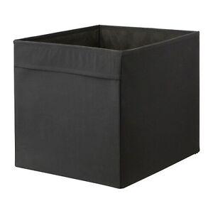 2 Boites tiroirs noir DRONA en tissu pour Kallax ou Expedit IKEA