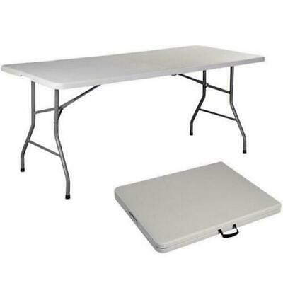 Indoor Camping Party (6 FT Portable Folding Table Outdoor Picnic Plastic Camping Dining Party)