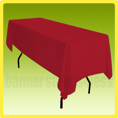 60x102 Table Cover Tablecloth Rectangle Wedding Banquet POLYESTER - RED
