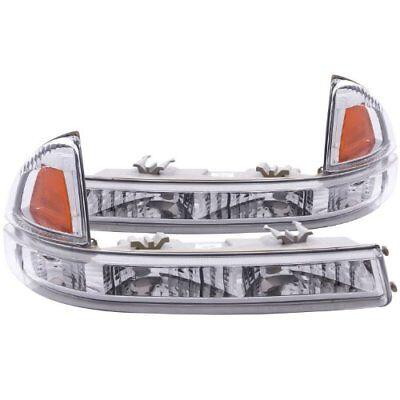ANZO (511044) 97-04 Dodge Dakota Euro Parking Lights Chrome w/ Amber Reflector