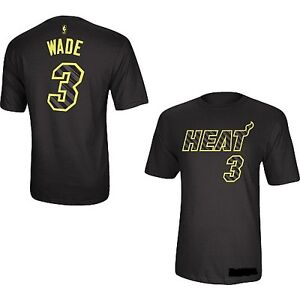 #3 Dwyane Wade Miami Heat Electricity NBA jersey T-shirt Large 100% Authentic!