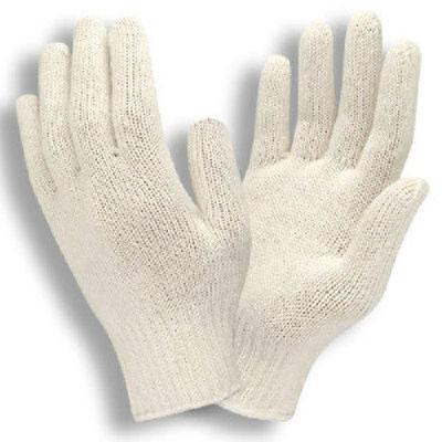 300 Pair 25 Dozen White String Knit Gloves Cotton Polyester Mens Medium New