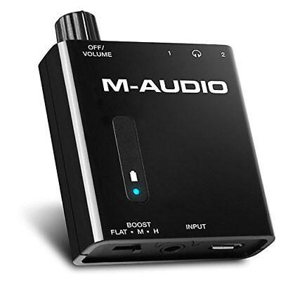 M-Audio Bass Traveler | Portable Powered Headphone Amplifier with Dual Output...