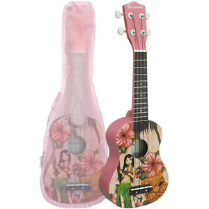 Soprano-Ukulele-Basswood-Body-Nato-Neck-Timber-With-Matching-Carry-Bag