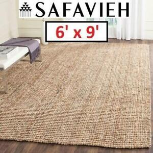 NEW SAFAVIEH NATURAL FIBER AREA RUG NF447A-6 191104212 6' x 9' BEIGE RUGS CARPET FLOORING DECOR ACCENTS MATS PADS