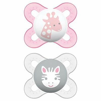 MAM Start Newborn Pacifiers (2 pack, 1 Sterilizing Pacifier Case), (girl)