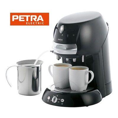 Petra KM 42.17 Kaffeepadmaschine Milchschaum Heißwasser Pulverkaffee Schwarz
