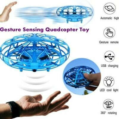 Mini Drone Infrared Sensor UFO Flying Toy Induction Aircraft Quadcopter Kid Gift