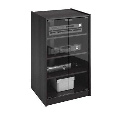 Video Component Stand Tv Audio Stereo Cabinet Media Entertainment Center 4-Shelf 4 Shelf Glass Video Stand