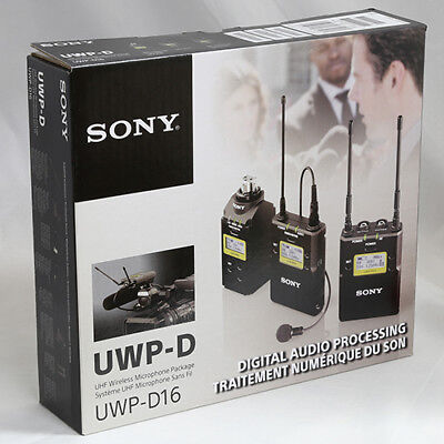 Sony UWP-D16 Digital Plug-on & Lavalier Combo Wireless Mic System UWPD16/14