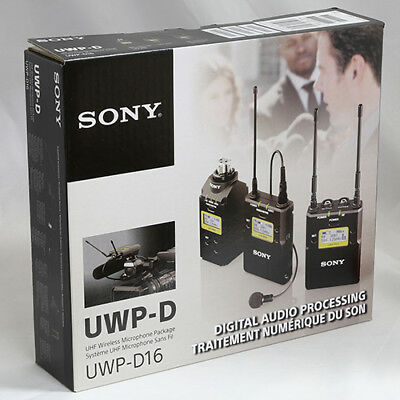 Sony UWPD16/14 Lavalier Microphone, Bodypack TX, Plug-On TX