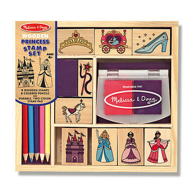 Melissa and Doug * Wooden Princess Stamp Set * NEW arts & craft activity toy