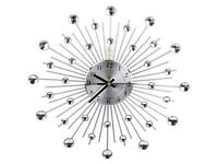 Diamante Silver Wall Clock