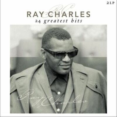 Ray Charles 24 GREATEST HITS Best Of ESSENTIAL Gatefold NEW Vinyl Passion 2