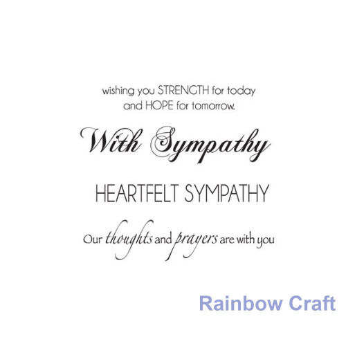 Kaisercraft mini stamps - 26 wording / patterns Scrapbooking card making - Sympathy
