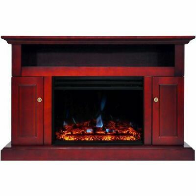 cambridge sorrento electric fireplace heater with 47
