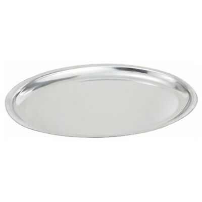 (Winco SIZ-14, 14-Inch Oval Sizzling Platter, Stainless Steel (14x8-3/4))