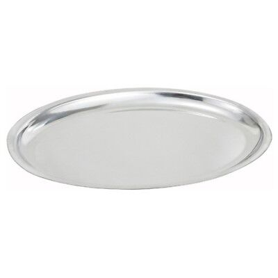 Winco Siz-11 11-inch Oval Sizzling Platter Stainless Steel