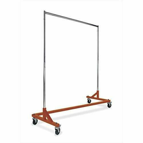 Rolling Clothing Garment Z Rack OSHA Approved, Heavy Duty 400 Pounds (ORG)