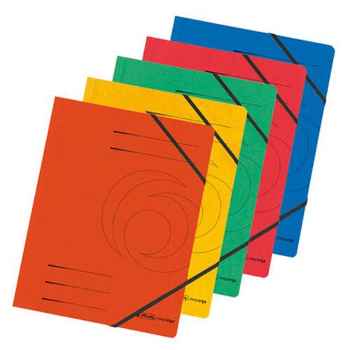 5 x herlitz Eckspannermappe Ordnungsmappe easy orga verschiedene Farben, DIN A4