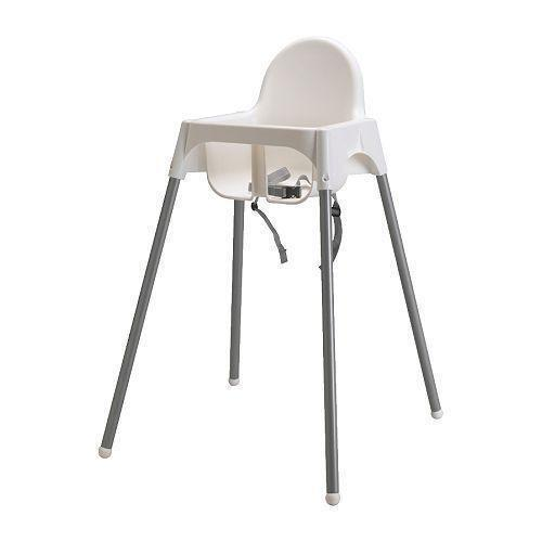 Ikea white highchair high chairs ebay for High baby chair ikea