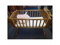 Modern Swinging Crib with Accessories