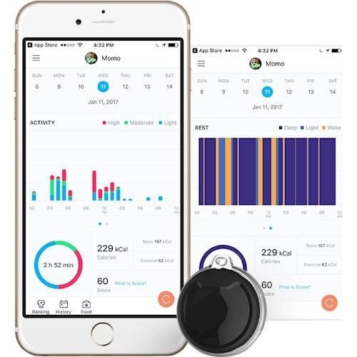 Poof Pea Activity Tracker, Black, Cat/dog, Monitors Sleep And Activity, New - $29.99